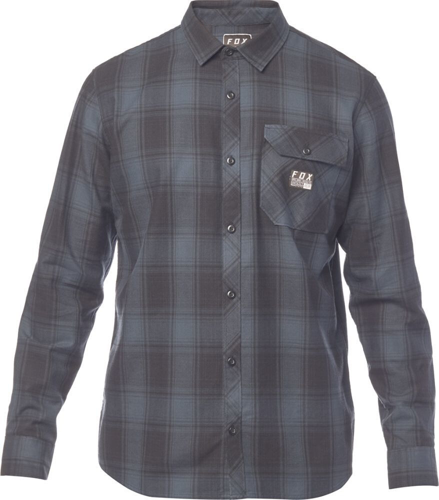 41f425233 Fox Voyd - Camisa manga larga Hombre - gris azul